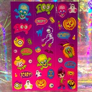 VTG Lisa Frank Holiday Halloween MINT 90s stickers
